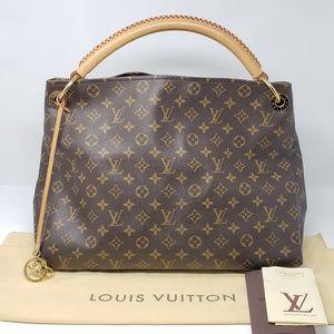 100% Auth Louis Vuitton Artsy MM Tote Bag
